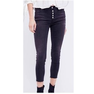 Free People | Reagan Button fly skinny jeans